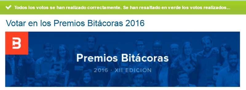ya has votado en los premios bitacoras 2016