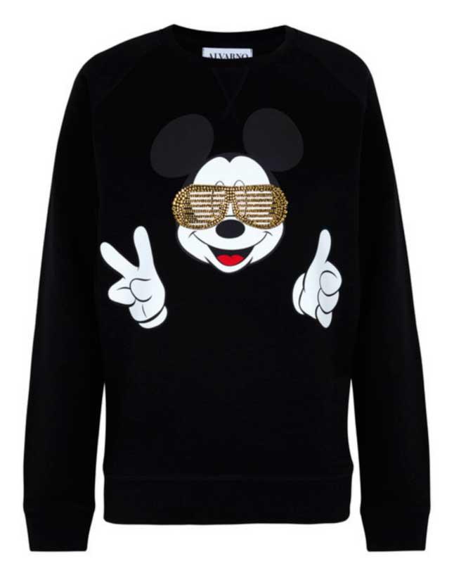 alvarno camiseta mickey mouse en negro y dorado