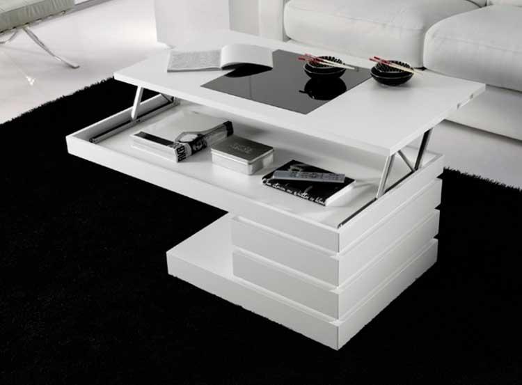 aprovechar espacios con una mesa de centro de doble función