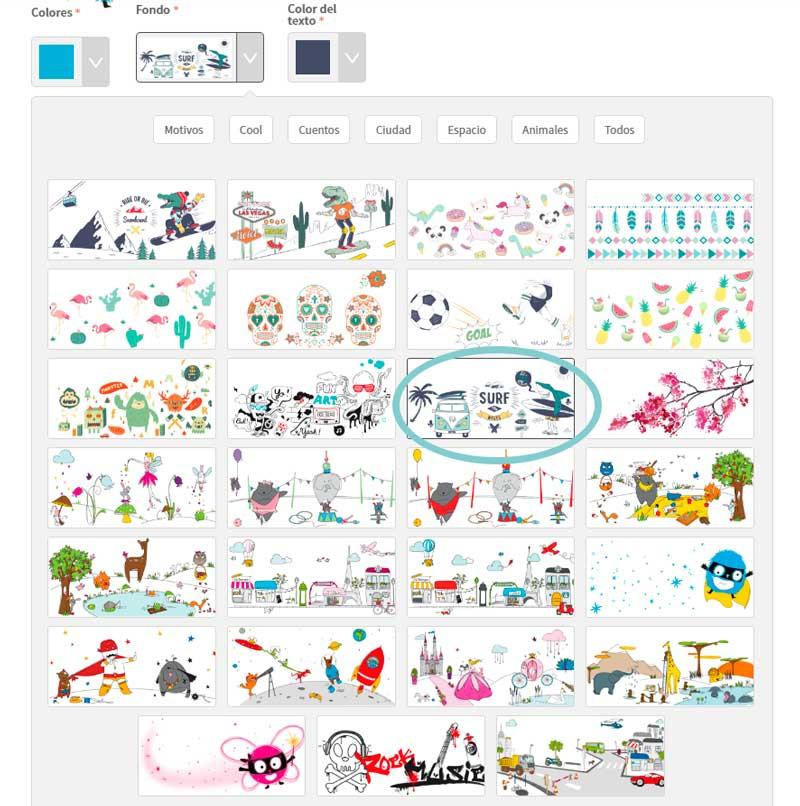 todos los dibujos que puedes poner en las fiambreras personalizadas