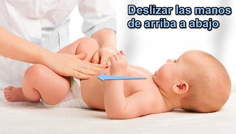 primer paso del masaje infantil
