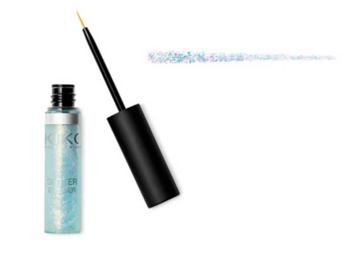 eyeliner para maquillaje con glitter