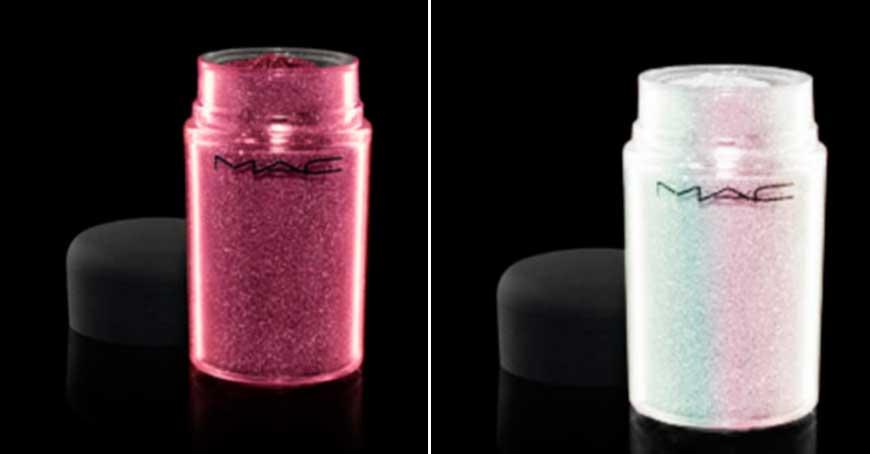 mac un producto versatil para maquillaje con glitter