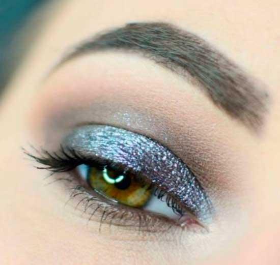 sephora maquillaje con glitter