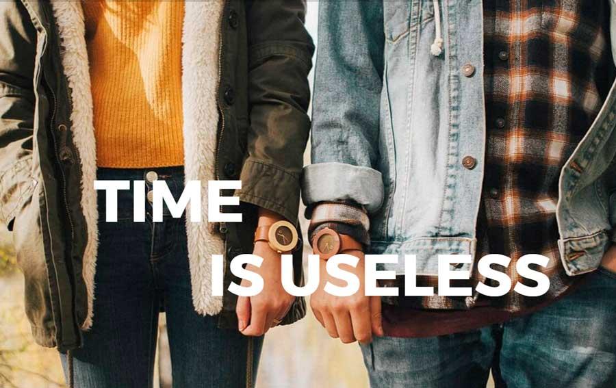 imagen de reloj de madera seqoya