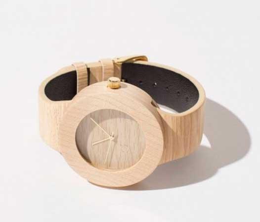 modelo stone reloj de madera seqoya