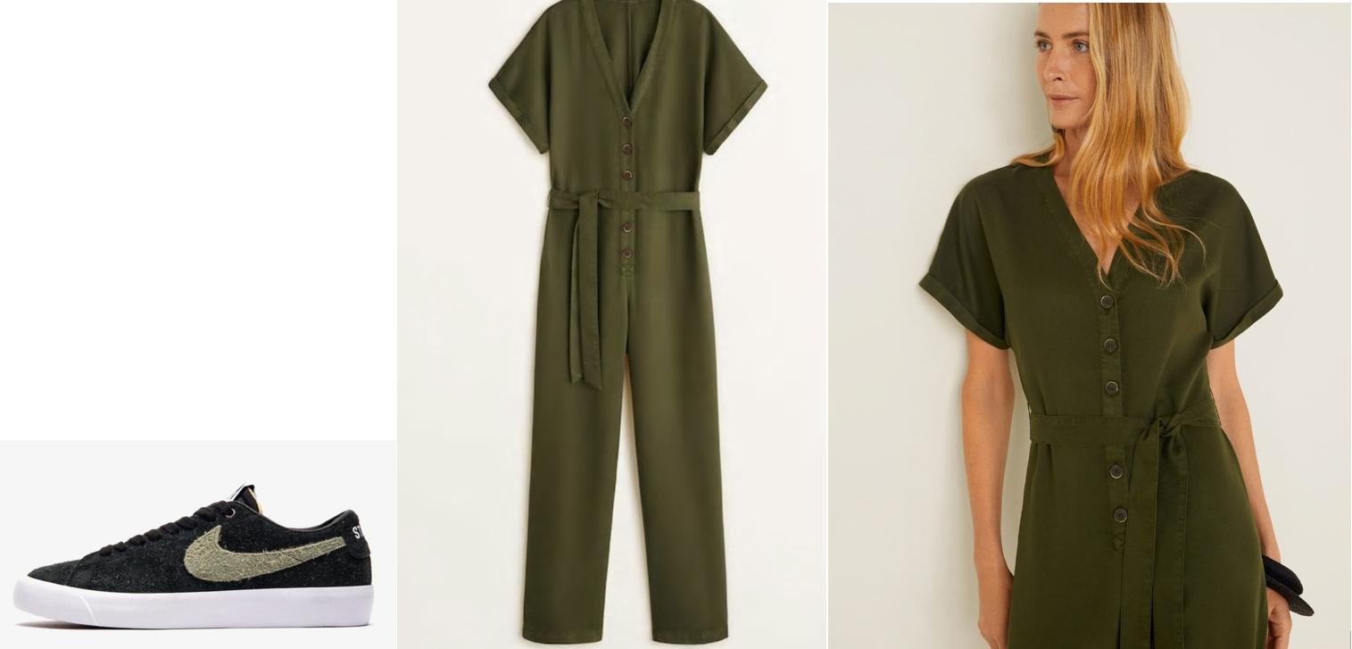militar outfit con zapatillas