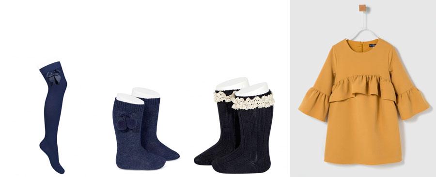 opciones de calcetin vestido con calcetines altos