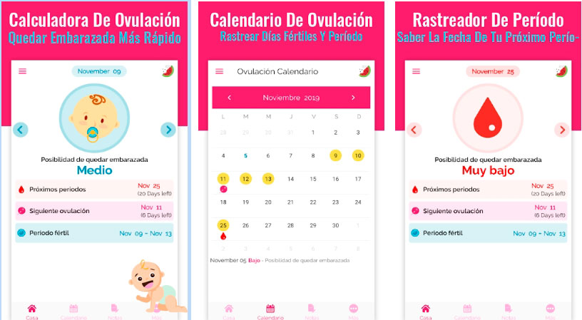 calculadora de ovulacion app descargable
