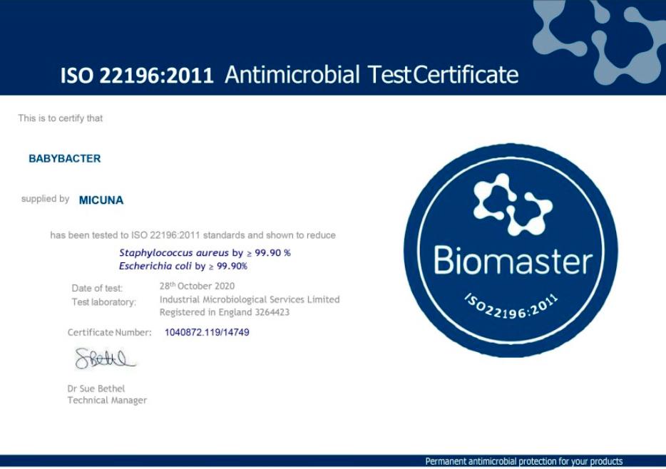 certificado babybacter bebe recien nacido